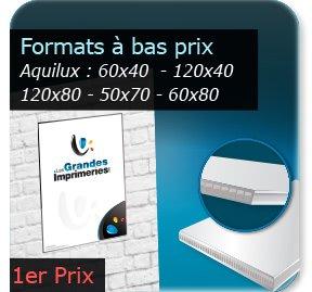 impression Panneaux Aquilux Formats standards éco (60x40 -120x40 -120x80 -50x70 -60x80cm
