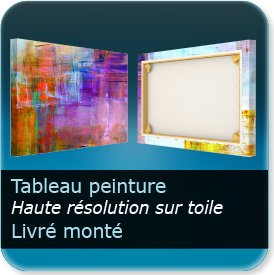 impression affiche orange Toile à tableau - Toile Canvas 400g - impression - recto seul