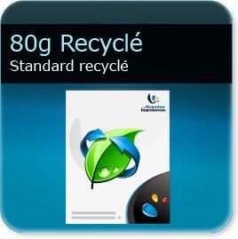 en tete model 80g Recyclé Blanc - Compatible imprimante laser & jet d'encre