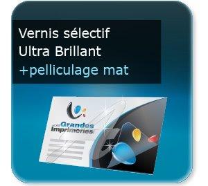 carton invitation personnalisé Luxe  vernis sélectif
