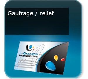 Cartes de visite Gaufrage-relief