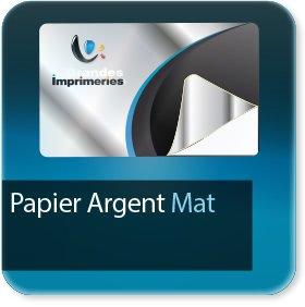 Autocollant & Étiquette Papier Argent mat adhésif