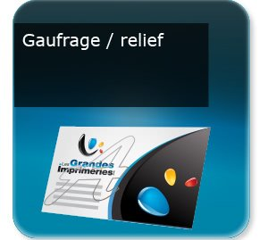 impression composants d un flyer Gaufrage relief