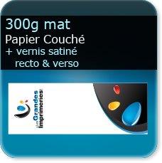 marque page noir et blanc 300g mat + vernis satiné R°/V°