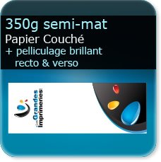 marque page noir et blanc 350g mat + pelliculage brillant recto verso