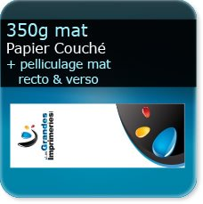 Marque pages 350g mat + pelliculage mat recto verso