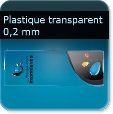 marque page noir et blanc PVC 0.2 MM souple transparent