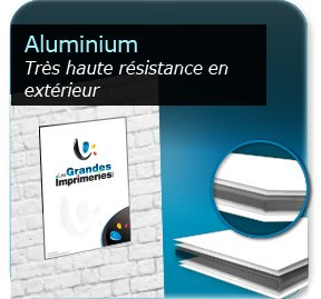 Aluminium eurobon for Pancarte publicitaire exterieur