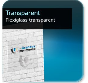 Plexiglass transparent for Pancarte publicitaire exterieur