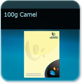 impression creation en tete 100g couleur Camel