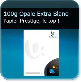 en tete piqué 100g Opale Extra Blanc Absolu - Compatible imprimante laser & jet d'encre