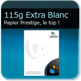 creation entete de lettre 115g papier extra-blanc