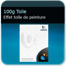 impression creation entete de lettre 130g papier toile