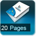impression brochures pas cher 20 pages