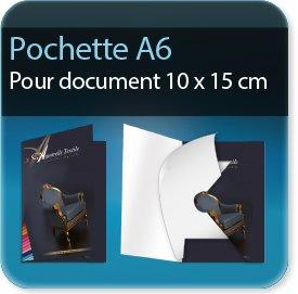 prix auchan chemises a rabats A6 plus 110 x 160 mm