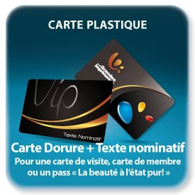 impression  Cartes plastique VIP