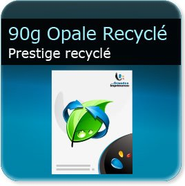 creation entete de lettre 90g Opale recyclé  - Compatible imprimante laser & jet d'encre