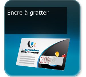 impression composants d un flyer Encre grattable