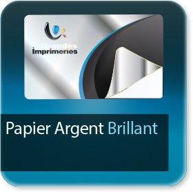 impression Autocollant professionnel & étiquette adhésive Papier Argent brillant adhésif
