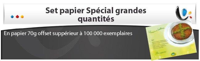 impression sets de table jetable Set papier grande quantité (supérieur à 100 000 ex)