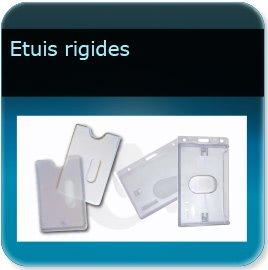 impression Porte badge étuis rigide pour badge épaisseur 0,5 ou 0,76mm