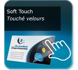 impression composants d un flyer Pelliculage Mat SOFT TOUCH